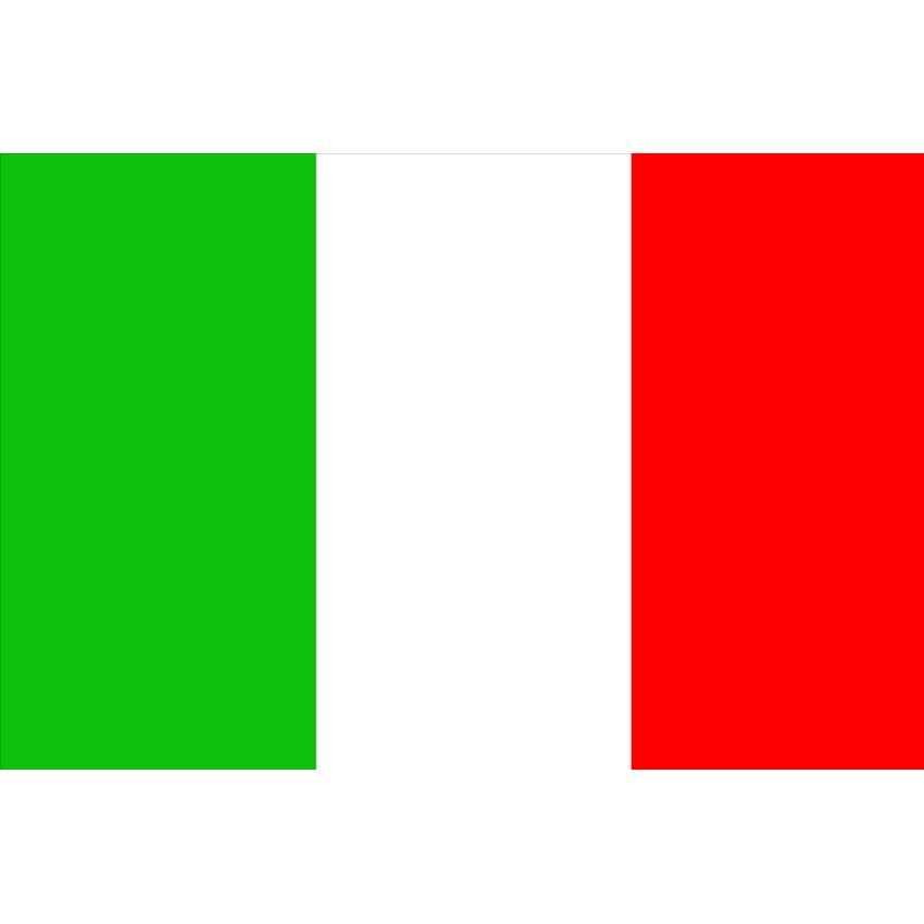 BANDIERA ITALIA 20 X 30 IN STAMIGNA DI POLIESTERE PESANTE NAUTICA BARCA