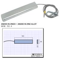 Anodo Sospeso in Zinco Serie Tec.4