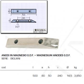 Anodo in Magnesio G.D.F serie Bigliani