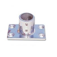 Base Rettangolare Diritta 75 x 42 mm Acciaio Inox