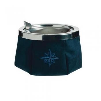 Posacenere Antivento MARINE BUSINESS In Acciaio Inox e Alcantara Blu