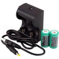 Exposure Caricatore per 2 batterie CR123 Ricaric.