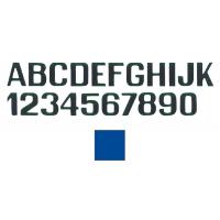 Lettere E Numeri Azzurre Mm 100