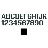 Letteri E Numeri Nero Mm 200