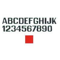 Lettere E Numeri Rosse Mm 100