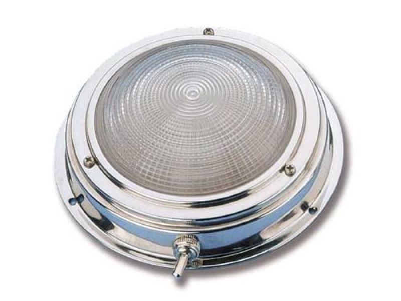 Plafoniere Per Nautica : Plafoniera circolare con interruttore acciaio inox plafoniere