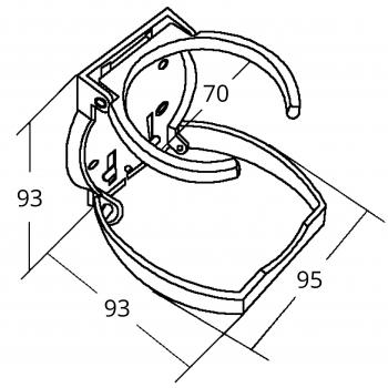 PORTABICCHIERE INOX/PVC