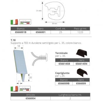 Profilo Parabordo PVC L.35