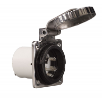 Spina 2P+T 220V. 32A IP56 In Acciao Inox