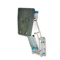 Supporto a ribalta in acciaio inox regolabile positivo e negativo
